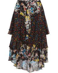 Jason Wu Woman Knee Length Skirt Black