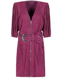 Jitrois Short Dress - Purple