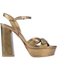 Lola Cruz Sandals - Metallic