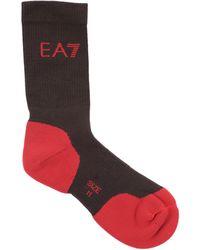 EA7 Short Socks - Brown