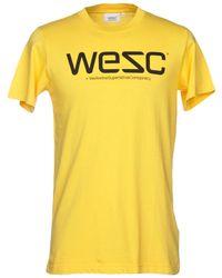 Wesc T-shirt - Jaune