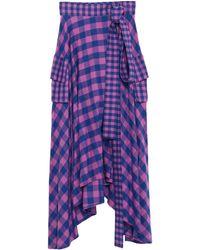 Natasha Zinko Midi Skirt - Purple