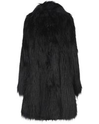 MM6 by Maison Martin Margiela Teddy Coat - Black
