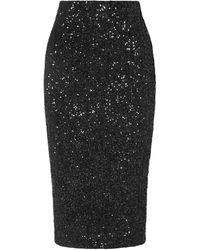 Rebecca Vallance 3/4 Length Skirt - Black