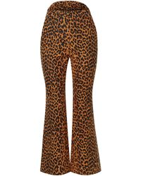 Pushbutton Casual Trousers - Brown
