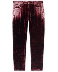 Saint Laurent Pantalone - Rosso