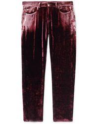 Saint Laurent Trousers - Red
