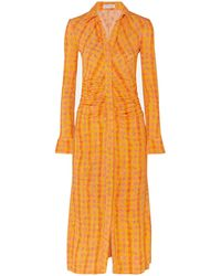 Altuzarra 3/4 Length Dress - Orange