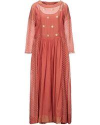 Péro Langes Kleid - Mehrfarbig