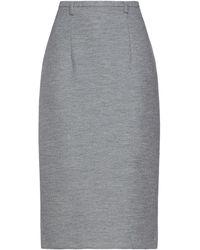 Brian Dales Midi Skirt - Gray