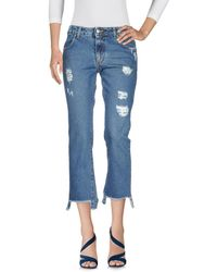 Berna Cropped jeans - Blu