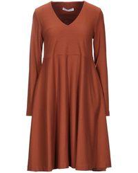 Harris Wharf London Short Dress - Brown