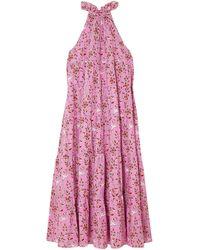 RHODE Langes Kleid - Pink