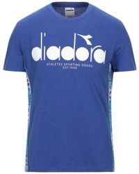 Diadora Mvb Logo Short Sleeve T-shirt - Online Exclusive - Blue