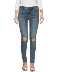 Free People - Denim Trousers - Lyst