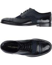 Dolce & Gabbana Lace-up Shoe - Black