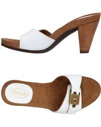 Scholl Sandals - White