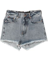 Filles A Papa Denim Shorts - Blue