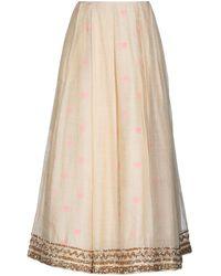 Manish Arora Long Skirt - Natural