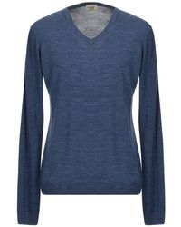 Henry Cotton's Pullover - Bleu