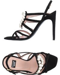 Boutique Moschino Sandals - Black