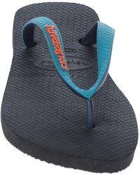 Buttero Toe Strap Sandal - Blue