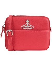 Vivienne Westwood Johanna Red Faux Leather Cross-body Bag