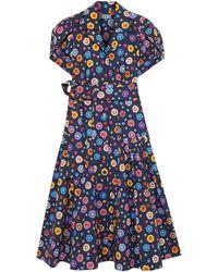 LHD 3/4 Length Dress - Blue