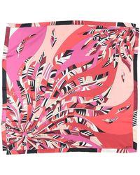 Lancel Square Scarf - Red