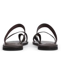8 by YOOX Toe Post Sandals - Brown