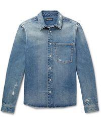 Balenciaga Denim Shirt - Blue