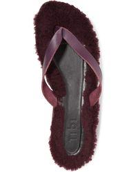 Tibi Toe Post Sandal - Purple