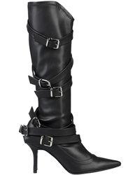 Divine Follie Knee Boots - Black