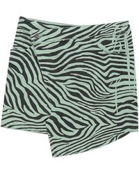 Laneus Denim Skirt - Green