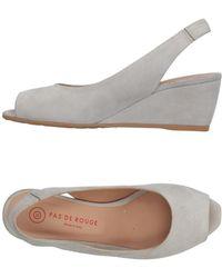 Pas De Rouge Sandals - Gray