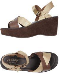 Kork-Ease Sandale - Mettallic