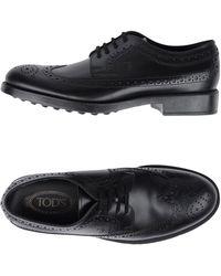 Tod's - Zapatos de cordones - Lyst