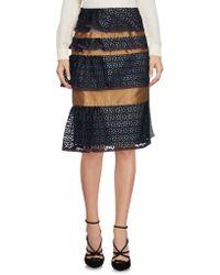 Kolor - Knee Length Skirt - Lyst