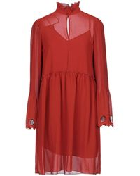 See By Chloé Terracotta Earthy Dress - Red