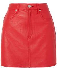 Rag & Bone Mini Skirt - Red