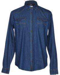 Armani Jeans - Chemise en jean - Lyst