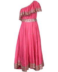 Manoush 3/4 Length Dress - Pink