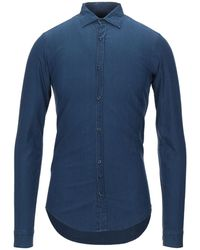 Aglini Denim Shirt - Blue