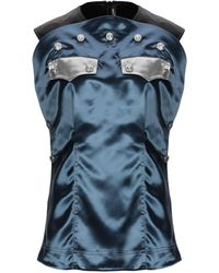 CALVIN KLEIN 205W39NYC Button Embellished Blouse - Blue