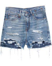R13 Shorts vaqueros - Azul