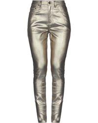 Saint Laurent Denim Pants - Metallic