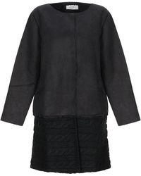Ivories Overcoat - Black