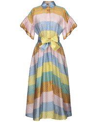 Tata Naka 3/4 Length Dress - Blue