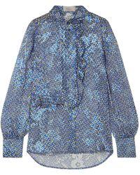 Preen By Thornton Bregazzi Shirt - Blue