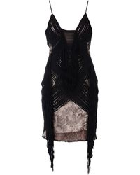 Elisabetta Franchi Vestido por la rodilla - Negro